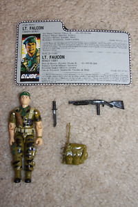 G.I.Joe - Lt. Falcon figure [1987] (with weapons and file card)