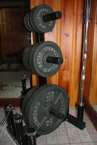 Parabody Squat Rack + Bench + Olympic bar + 280lbs Weight - MINT West Island Greater Montréal image 2