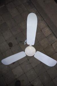 """Ceiling Fan - Envirofans, Vintage Industrial Fan, 1960's, 56"""""""