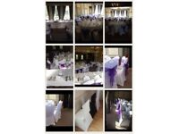 Wedding venue hire chair covers,sashes,table covers