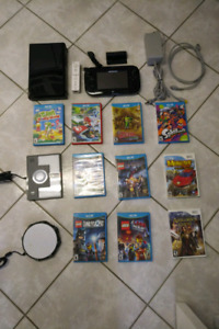 WII U MARIO KART WITH 10 GAMES AND 1 ADDITIONAL CONTROLLER