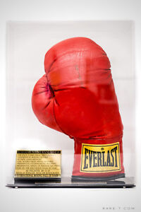 AUTOGRAPHED MUHAMMAD ALI GLOVE WITH DISPLAY