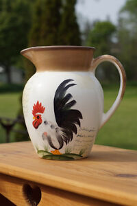 RARE ROOSTER COLLECTOR PLATE & MATCHING PITCHER Kingston Kingston Area image 5