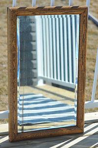 Solid Oak Antique Mirror
