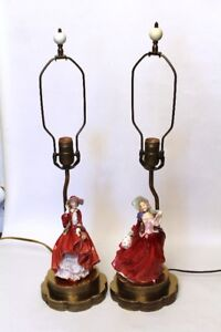 Lampes Doulton  figurines Top of the Hill et Autumn Breeze