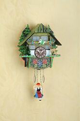 Pendulum clock Schwarzwald Kuckulino Cuckoo Quartz movement Wood dial 2023SQ