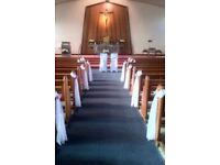Have your Church decorated on Your Big Day!