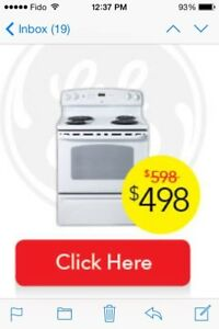 GE white stove for sale