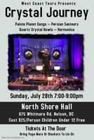Crystal Journey Concert In Nelson, BC. North Shore Hall