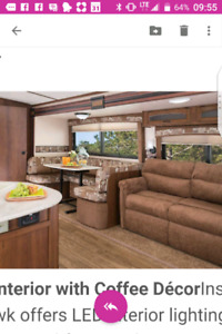 Travel trailer, suitable for park model, 33 feet with bunk beds