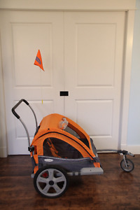 Quick N Easy Double Bicycle Trailer/Stroller