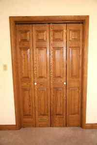 Solid Oak Doors and trim for sale.