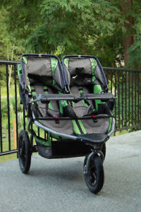 Bob Revolution Pro Dually Twin Jogging Stroller.