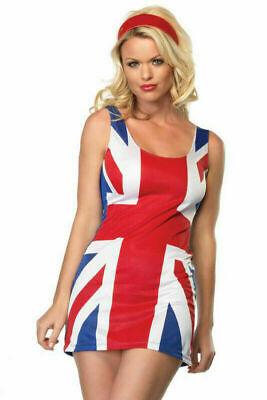 British Flag Costume (Leg Avenue Sexy British Flag Mini Skirt Spice Girl)