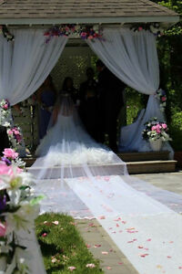 Wedding Dress with very long veil