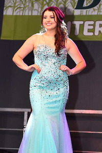 Turquoise Mermaid Prom Dress Size 12