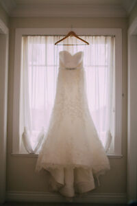 Beautiful LACE Fit to Flare Sweetheart Wedding Dress