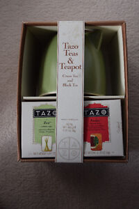 Tazo Teapot with Tazo Teas