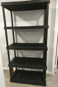 Certified 5-Shelf Resin Rack, 36 x 18 x 72-in