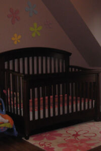 Crib with double bed frame