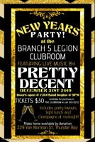 BR. 5 LEGION:  PETTY DECENT BAND Plays NEW YEAR'S EVE
