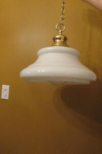 2 Glass/Porcelain pendant light fixtures