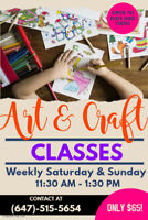 Art and Craft Classes – Painting, Drawing, Sketching, Stamping,