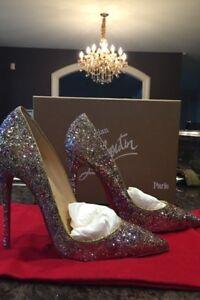 Christian louboutin follies size 38 glitter