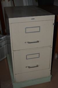 2 drawer legal filing cabinet with key lock