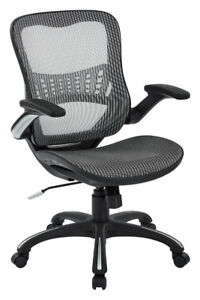 Office Star Mesh Back & Seat, 2-to-1 Synchro & Lumbar Support Ma