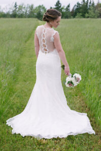 Wedding Gown, Ivory Size 10, Enchanting Mon Cheri NEW PRICE!