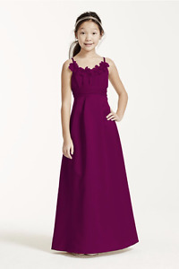 Satin & Chiffon Ball Gown for your Junior Bridesmaid! Youth (14)