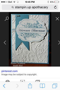 Stampin up Apothecary Art and Dies