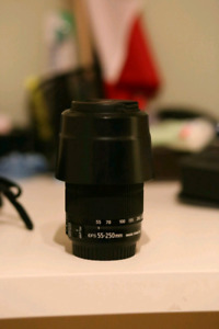 Canon t6i with 55-250mm lens