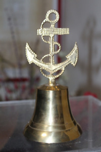 Brass Bell with Anchor Handle