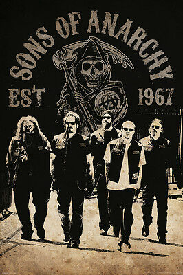 Sons Of Anarchy Tv Show Poster 24X36  Reaper Crew