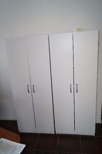 Two SystemBuild Storage Cabinets