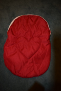 Winter baby car seat cover (red)