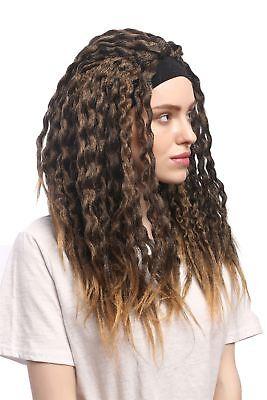 Wig Carnival Halloween Headband Dreads Dreadlocks Rasta Caribbean Brown Blonde (Halloween Dreads)