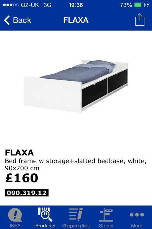 Ikea Leksvik Kinderbett Nachfolger ~ Ikea Flaxa single 2 drawer storage blackwhite bed Ikea Flaxa single 2