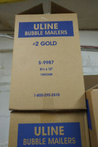 Assorted Bubble Mailers, #0, #1, #2