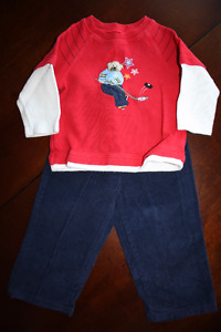 2 Piece Hockey Outfit - Shirt and Pants- 2T