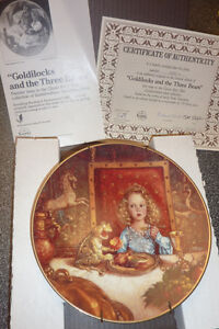 3 Fairytale-themed KNOWLES collector plates $ 15 EACH, $ 40 all Kitchener / Waterloo Kitchener Area image 3