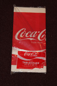 sealed package - Coca-Cola paper tablecloth