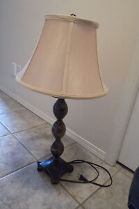Attractive marble base Lamp with beige shade