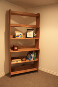 TALL WOODEN BOOKCASE