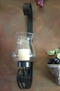 Wrought iron candlestick holders