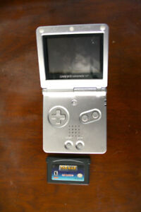 VINTAGE AUTHENTIC GAMEBOY ADVANCE SP grey with game