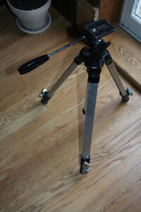 Solid Metal Camera tripod with adjustable legs, swivel arm Kitchener / Waterloo Kitchener Area image 1