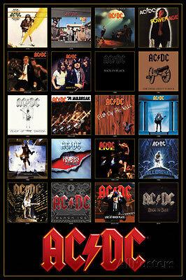 AC/DC Discography Poster Print 24x36 Rock & Pop Music